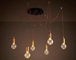 Люстра Лофт Edison 6 ламп