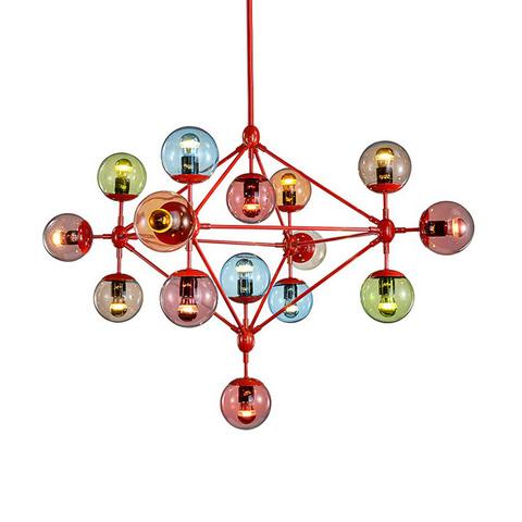 Люстра Modo Chandelier 10 Globes Color