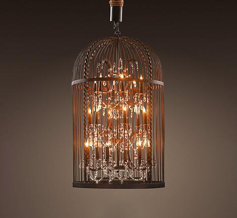 Люстра Vintage birdcage 6+6 ламп