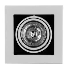 Светильник встраиваемый поворотный Arte Lamp Cardani medio A5930PL-1WH