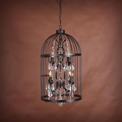 Люстра Vintage birdcage 4+4 лампы
