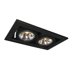 Светильник встраиваемый поворотный Arte Lamp Cardani medio A5930PL-2BK