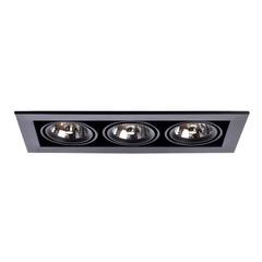 Светильник встраиваемый поворотный Arte Lamp Cardani medio A5930PL-3BK
