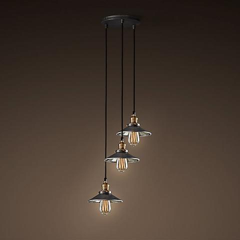 Светильник 20th c. Factory Filament 3 плафона