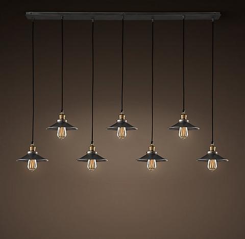 Светильник 20th c. Factory Filament 7 плафонов