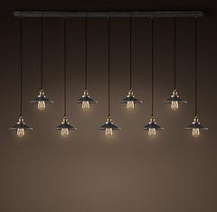 Светильник 20th c. Factory Filament 9 плафонов