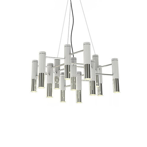 Люстра Ike Suspension 13 White-Silver