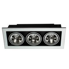 Светильник встраиваемый поворотный Arte Lamp Cardani medio A5930PL-3SI