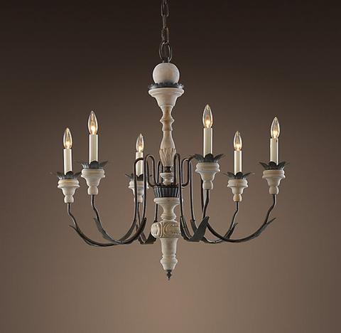 Люстра Parisian Wood & Zinc 6 ламп