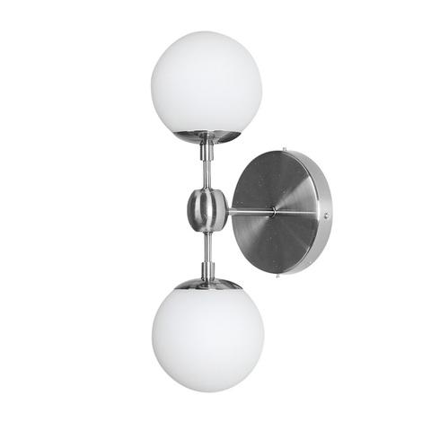 Бра Modo Sconce 2 Globes Chrome