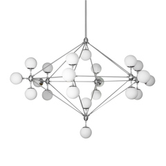 Люстра Modo Chandelier 21 Globes Chrome