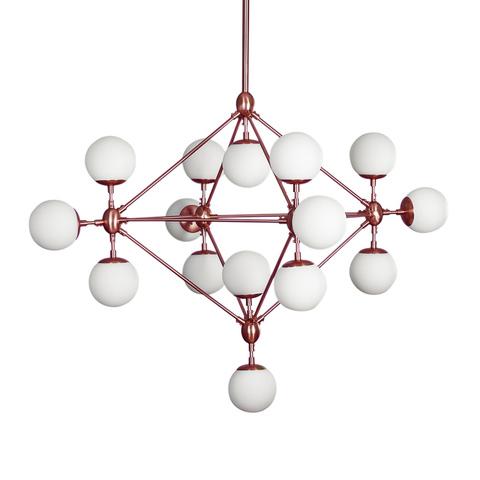 Люстра Modo Chandelier 15 Globes Copper