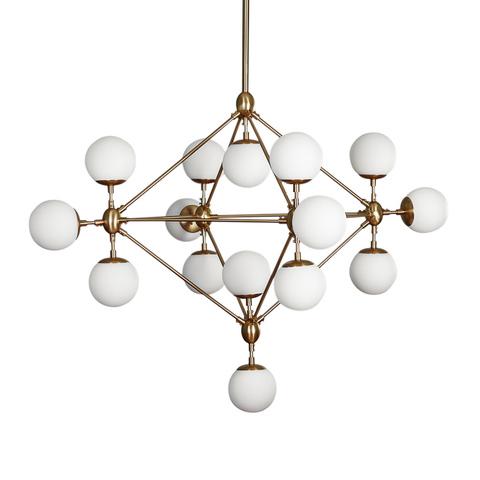 Люстра Modo Chandelier 15 Globes Brass
