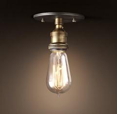 Светильник 20th c. Factory Filament Bare Bulb