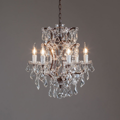 Люстра 19th c. Rococo Iron & Crystal 46см.