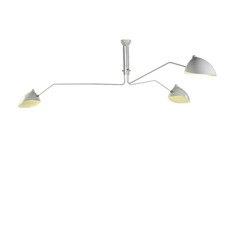 Люстра Serge Mouille Lamp White 3