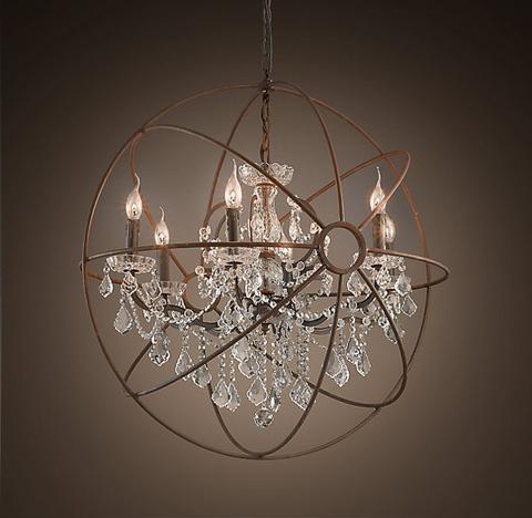 Люстра Foucault's orb crystal 8 ламп